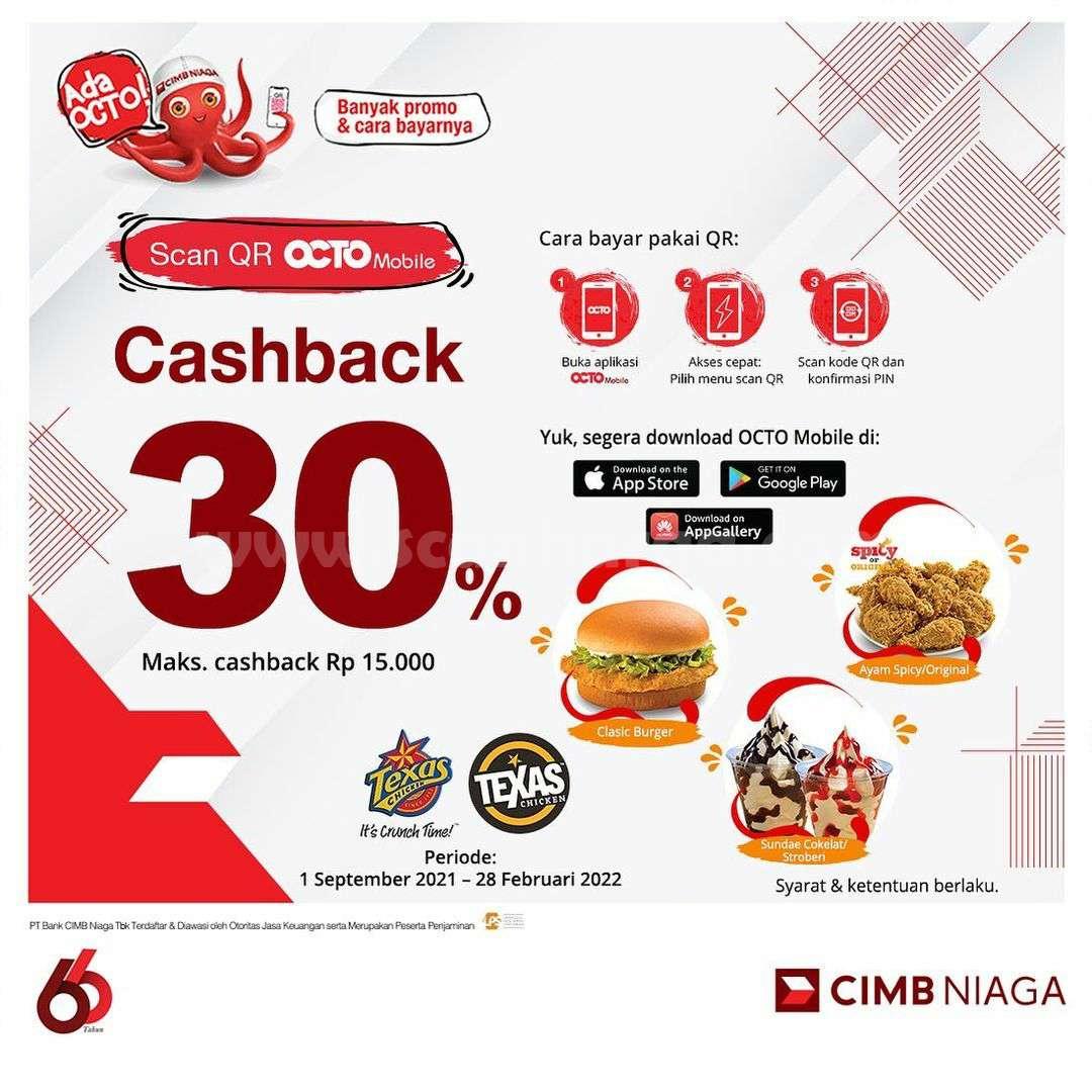 TEXAS CHICKEN Promo CASHBACK 30% dengan CIMB Niaga